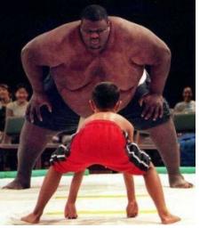 big guy versus little guy